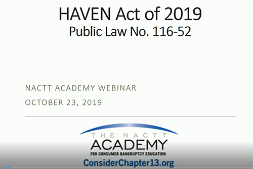 The HAVEN Act – Understanding this complicated new law