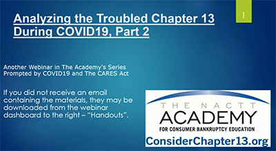 5/6/20 Analyzing Troubled Chapter 13 During Covid